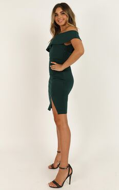Seven Seas Dress In Emerald