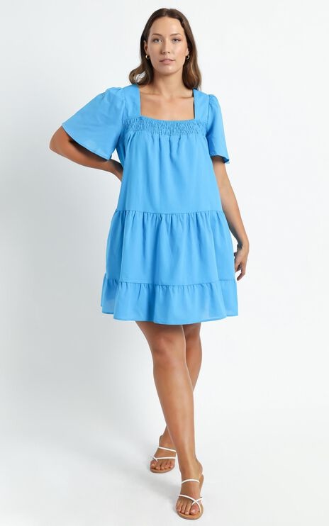 Donya Dress in Blue