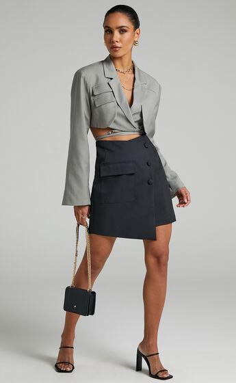 Meliza Mini Skirt in Black