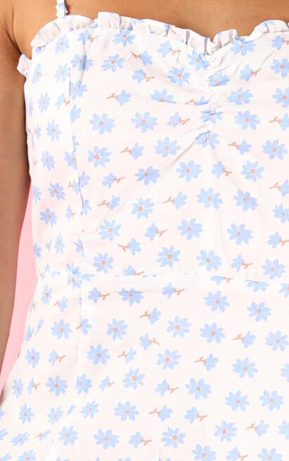 Whatever I Want dress in blue floral - 12 (L), Blue, hi-res image number null