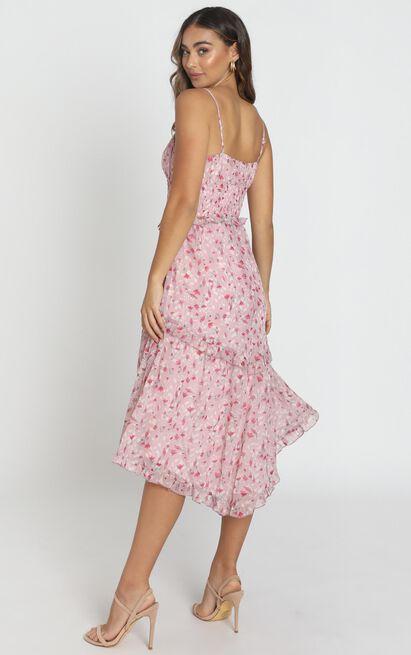 Danielle Dress in pink floral - 12 (L), Pink, hi-res image number null