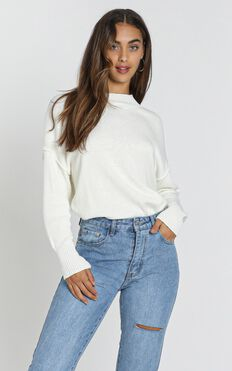 Denver Knit Jumper In Ivory