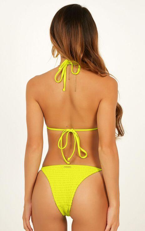 Chloe Bikini Top In Lime
