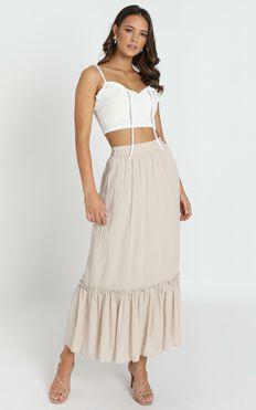Fatima Boho Skirt In Beige