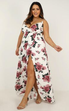 Best Way I Know Dress In White Floral