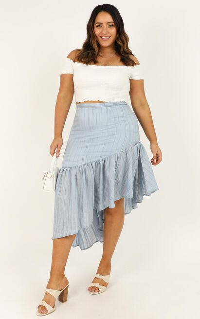 For You Baby Skirt In blue stripe - 20 (XXXXL), Blue, hi-res image number null
