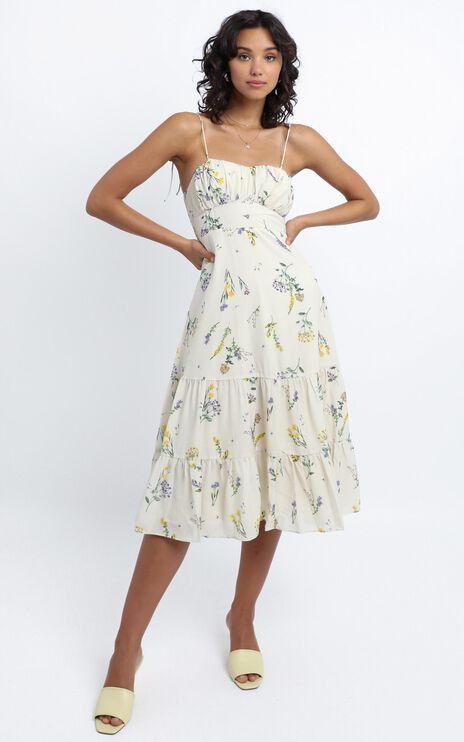 Monaco Dress in botanical floral