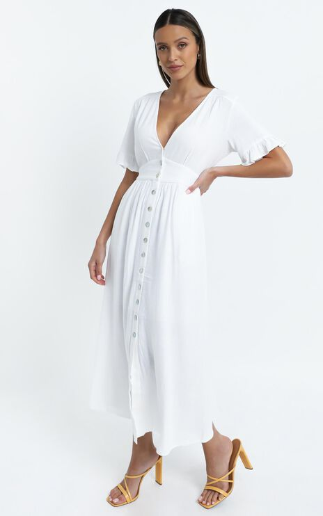 Gabbi Dress in White