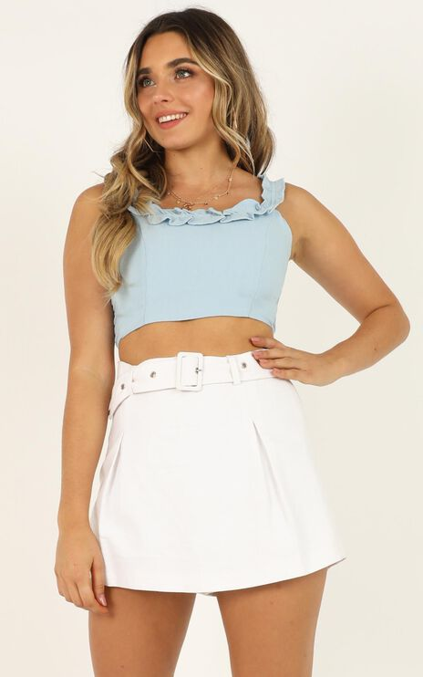 A Little Piece Of Heaven Top In Pale Blue