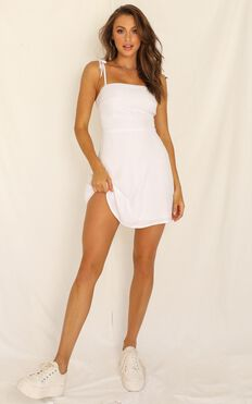 Afternoon Glow Dress In White
