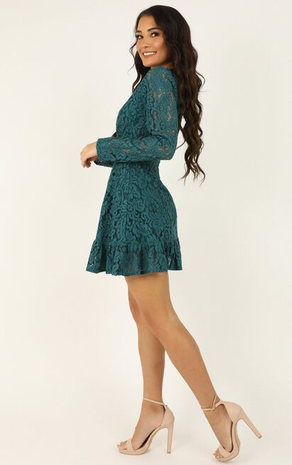 Love and Leave Dress in teal lace - 20 (XXXXL), Green, hi-res image number null