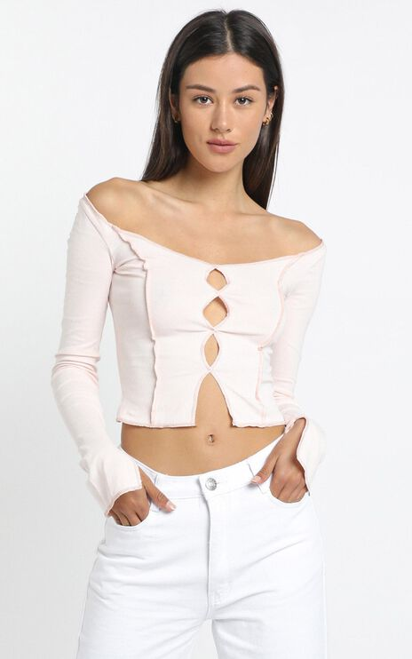 Aramis Top in Pale Pink