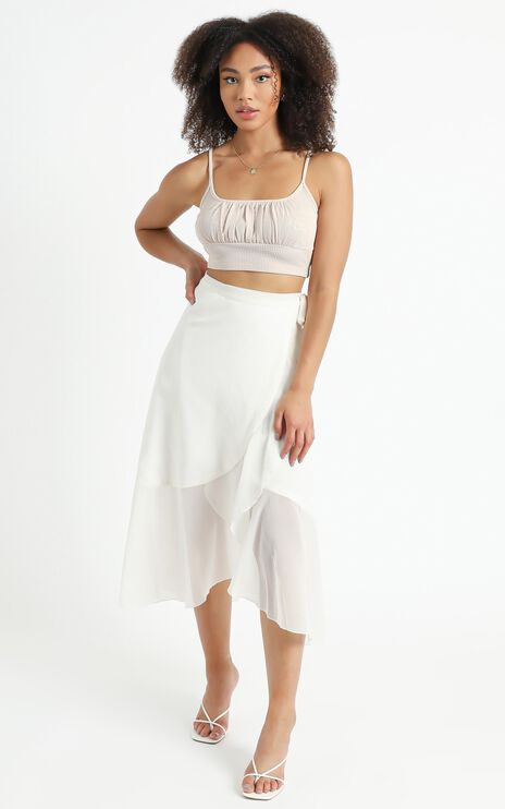 Add To The Mix Skirt in White