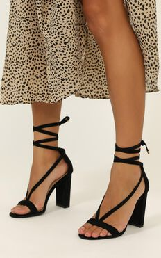 Billini - Juno Heels In Black Micro
