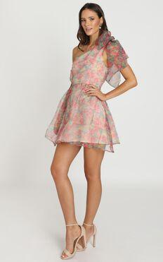 Weekend Dreaming Dress In Pink Floral