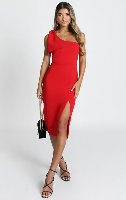 I Got A Feeling Dress in red - 20 (XXXXL), Red, hi-res image number null