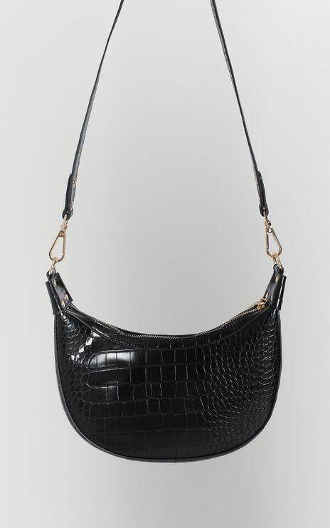 Weekend Girl Bag In Black Croc