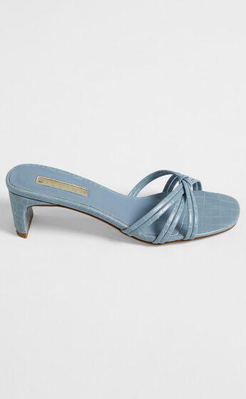Billini - Siana Heels in Dusty Blue Croc