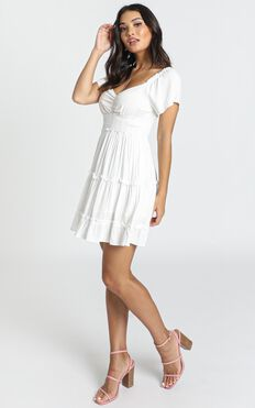 Hearts Content Dress In White