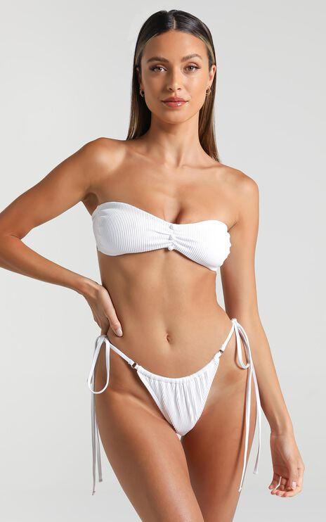 Twiin Swim - Celine Skimpy String Bottoms in White