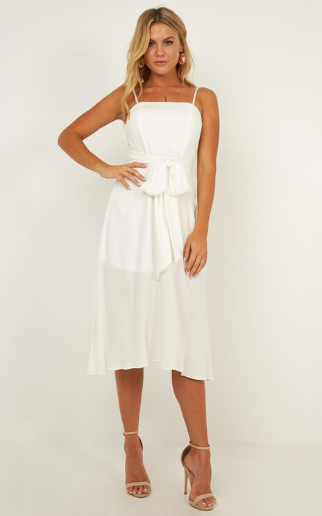 Destined Together Dress In White