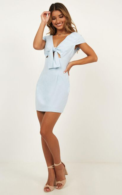 Solo Flyer Dress In Light Blue - 4 (XXS), Blue, hi-res image number null
