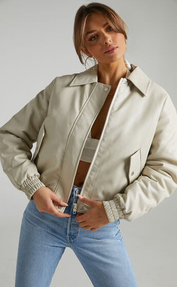 Kinzie Puffer Jacket in Cream