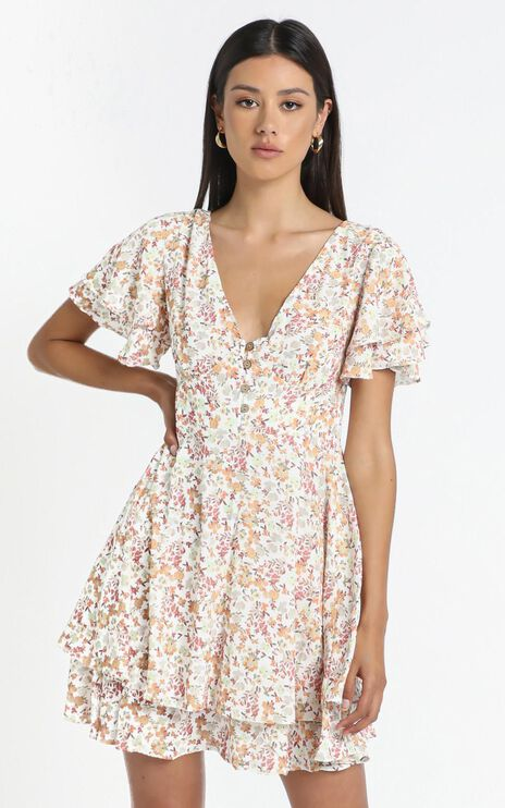 Tahlia Dress in Multi Floral