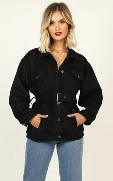 Ready To Go Again Jacket In Black