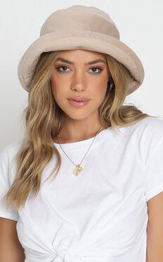 Peaceful Dreams Bucket Hat in Beige Cord