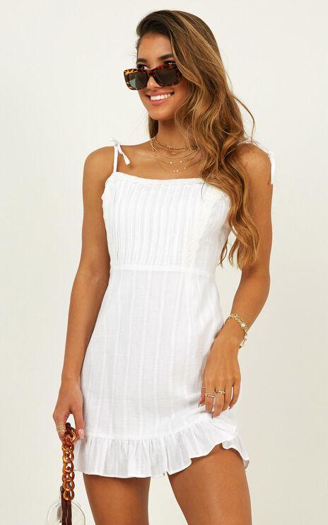Sneaky Trip Dress In White