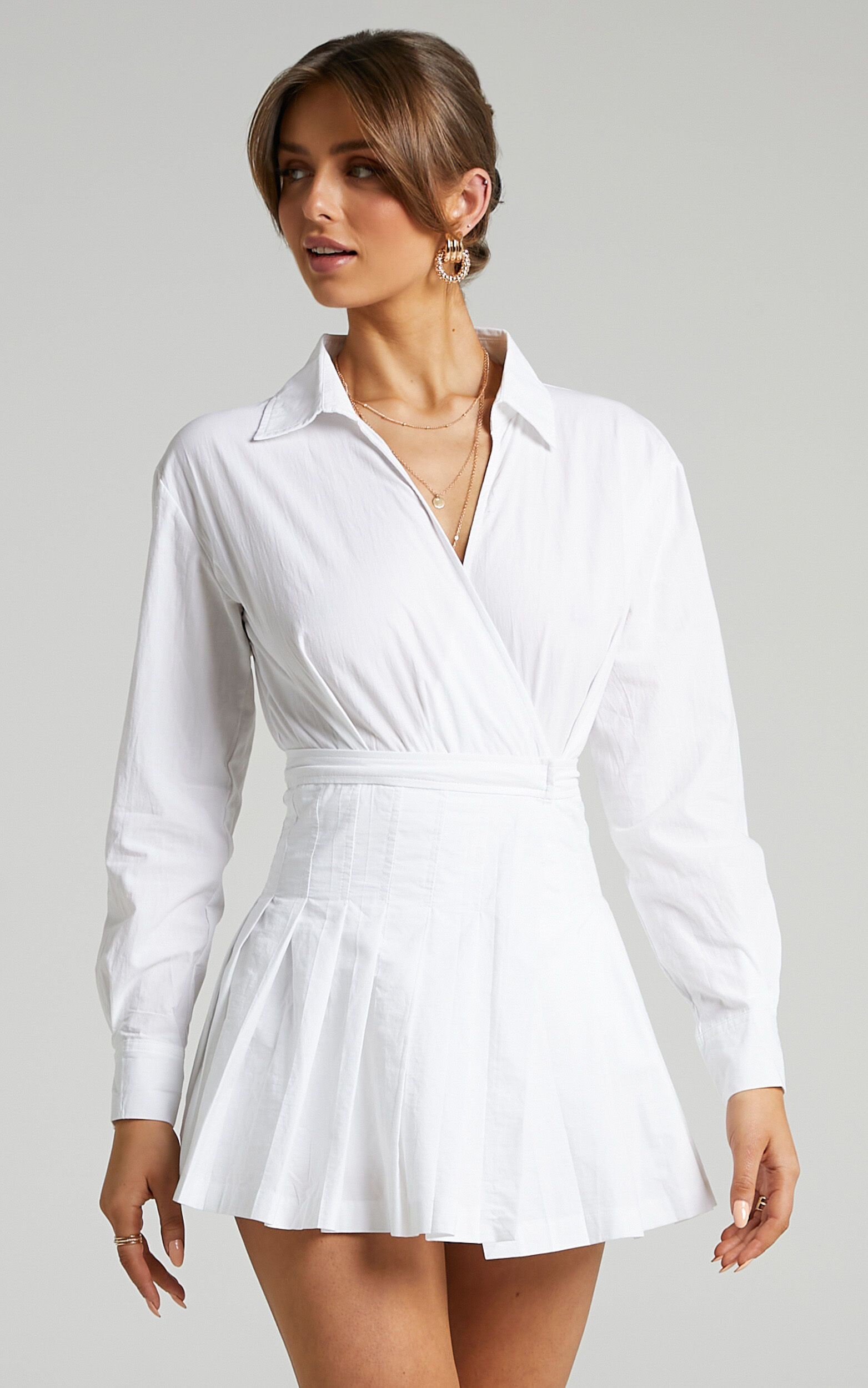 Pamella Tennis Skirt Playsuit in White - 06, WHT1, super-hi-res image number null