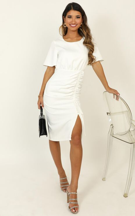 Listings Dress In Cream