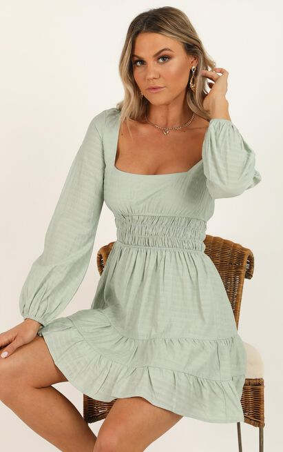 Behind Your Eyes Dress in sage - 20 (XXXXL), Sage, hi-res image number null