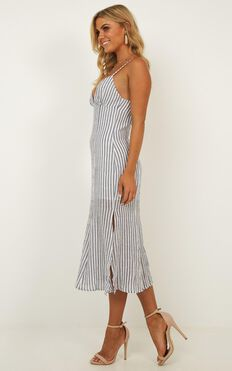 Sly Love Dress In Blue Stripe