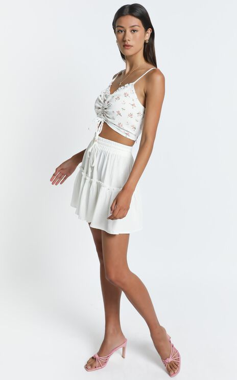 Tennessee Top in White Floral