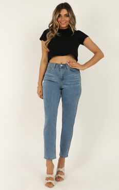 Karlee Jeans In Mid Wash Denim