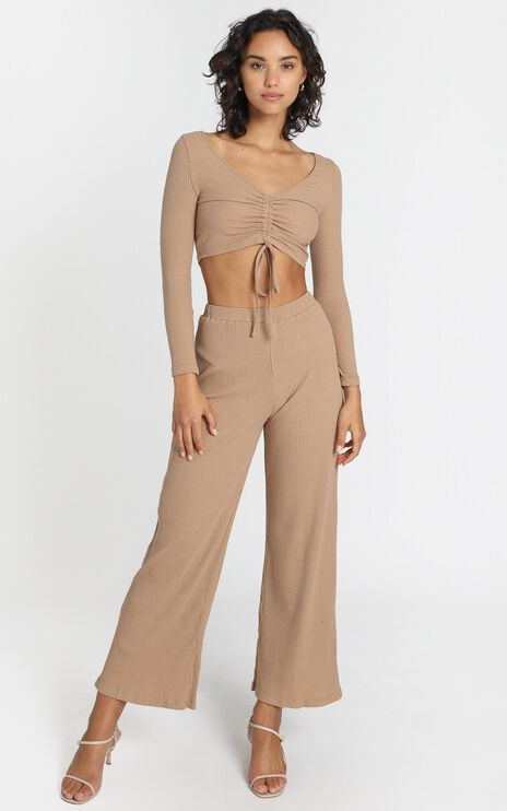 Roma Two Piece Set in Tan