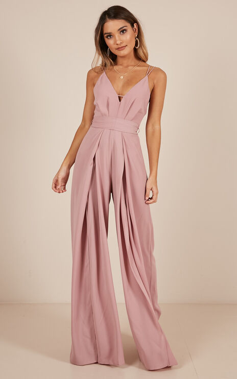 The Way I Am Jumpsuit In Blush