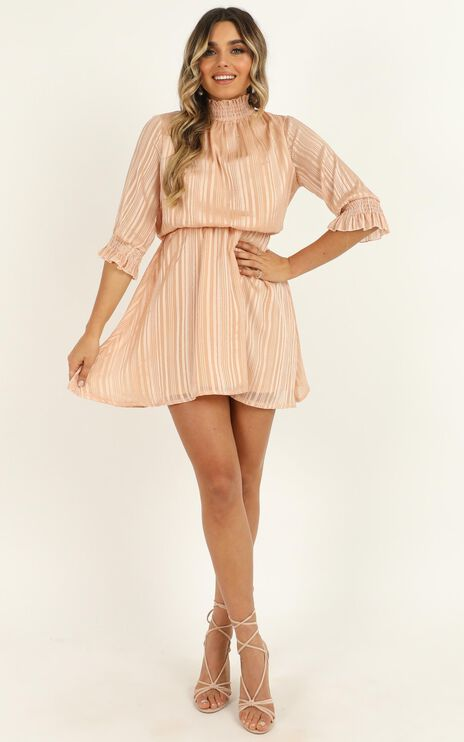 Call Me Honey Dress In Blush