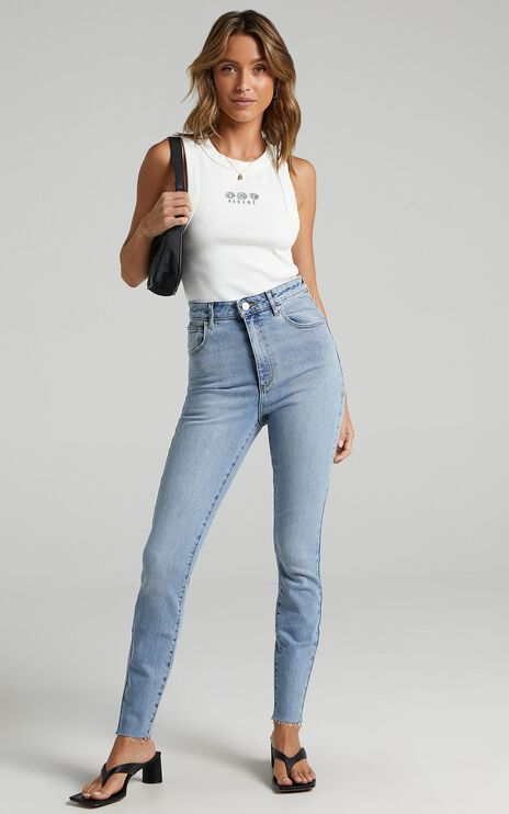 Abrand - A High Skinny Ankle Basher Jean in Ashley