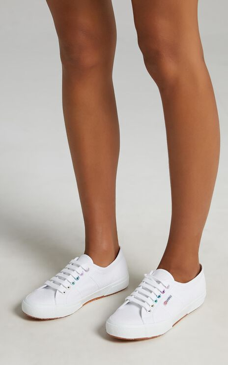 Superga - 2750 Colourful Eyelets Sneakers in A9T White