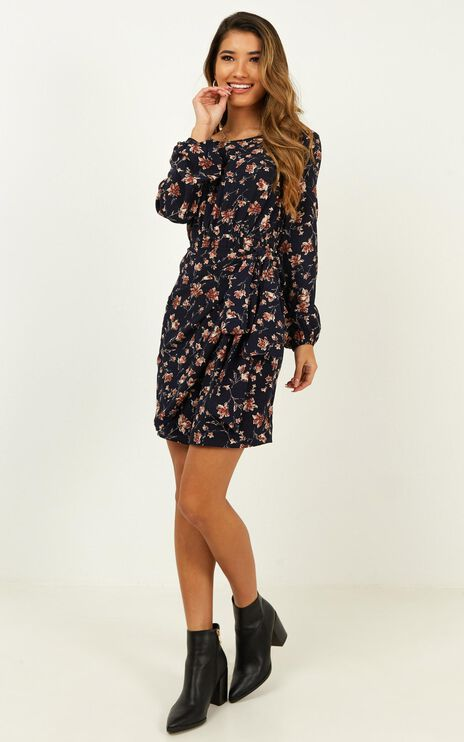 One Last Chance Dress In Navy Floral