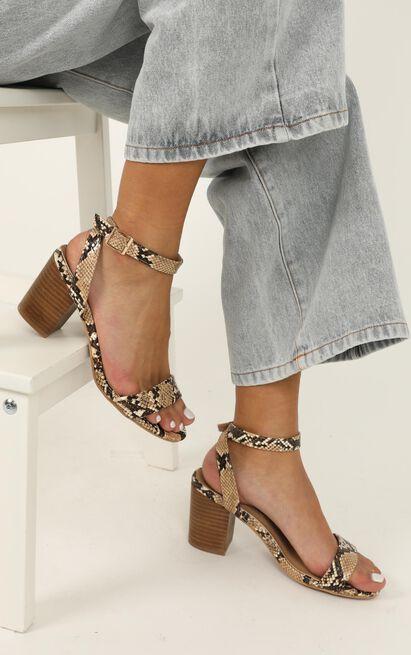 Billini - Carlina Heels in camel snake - 5, Camel, hi-res image number null
