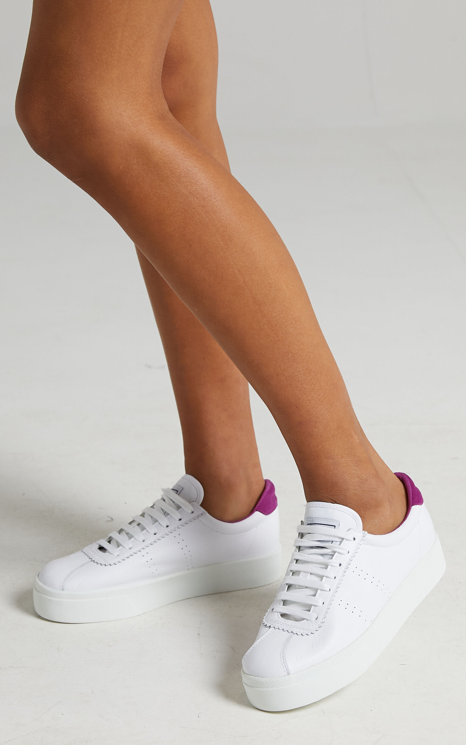 Superga - 2854 Club S 3 Leather Sneakers in White Fuchsia - 05, WHT1, super-hi-res image number null