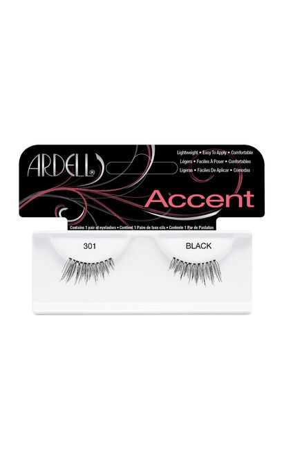 Ardell - Accent Lashes 301 in Black, Black, hi-res image number null