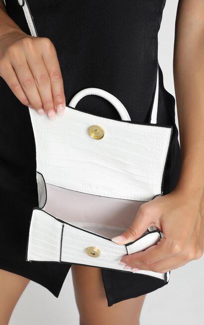 Peta And Jain - Brandy Mini Bag In White Croc, , hi-res image number null