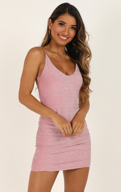 Party Lights Dress in pink lurex - 16 (XXL), Pink, hi-res image number null