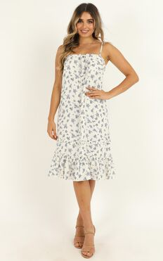 Treasured Soul Dress In White Floral