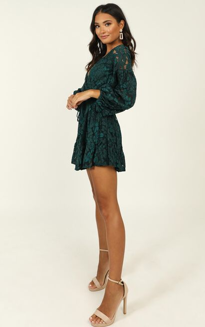 Autumn Leaves dress in teal lace - 6 (XS), Green, hi-res image number null